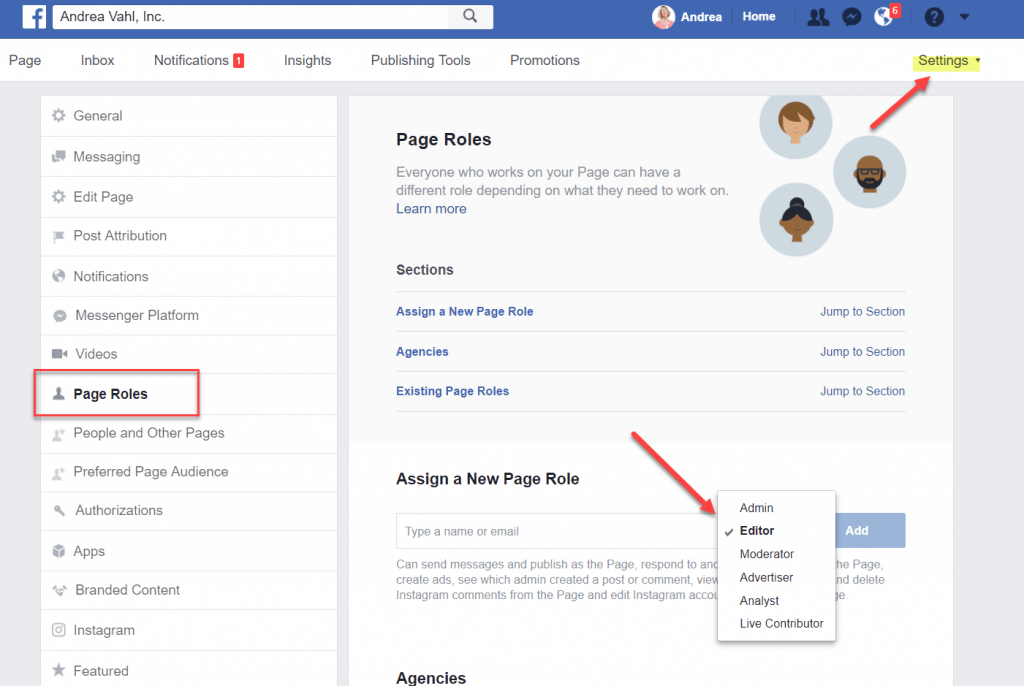 Become a Facebook account manager